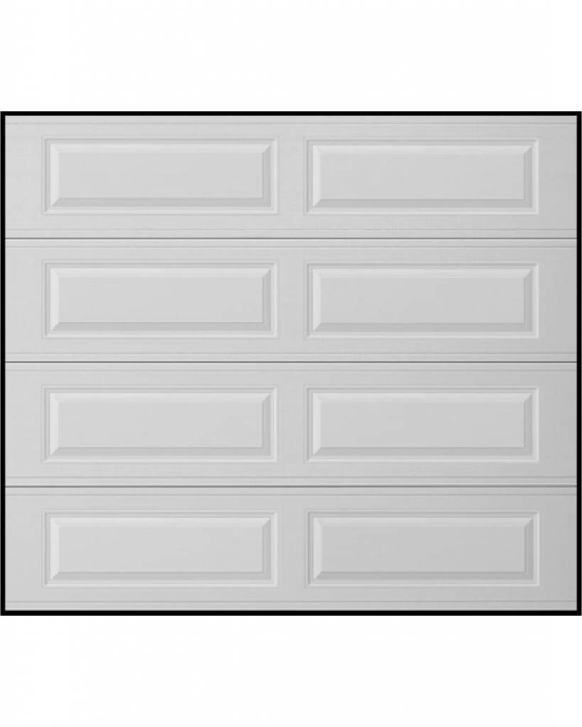 Long Traditional 8x7 White Single Garage Door (Insulated)