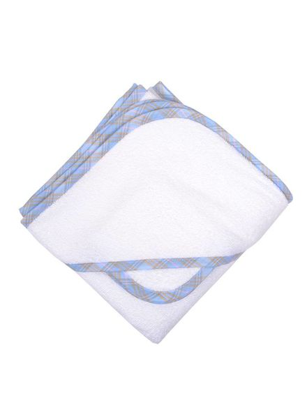 3 Marthas Blue Plaid Terry Hooded Towel