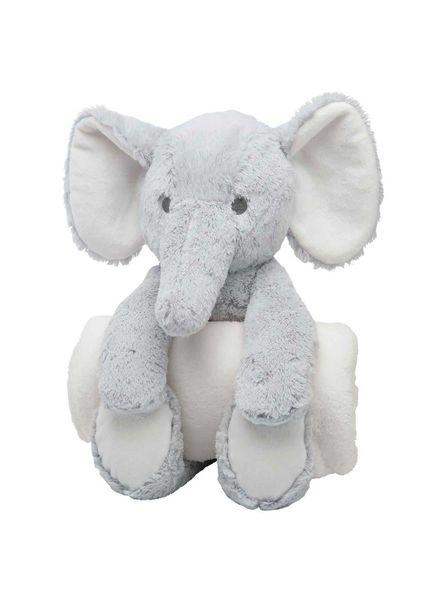 Elegant Baby Elephant Bedtime Huggie & Blanket