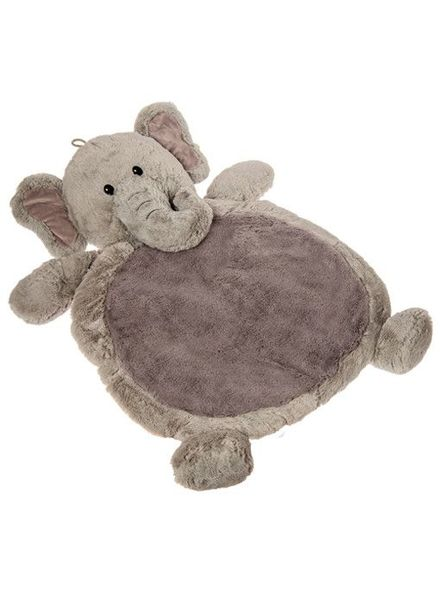 Mary Meyer Grey Elephant Baby Mat