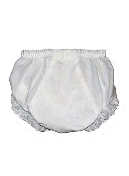 White Monogrammed Baby Bloomers
