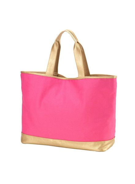 Wholesale Boutique Hot Pink Cabana Tote Bag