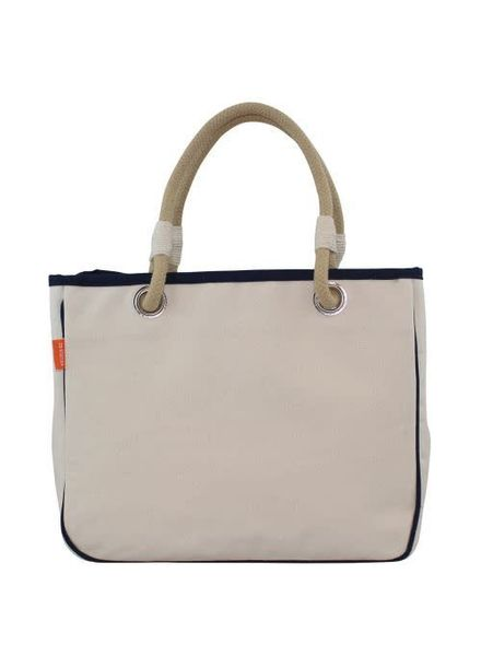 CB Station Navy Trim Rope Tote