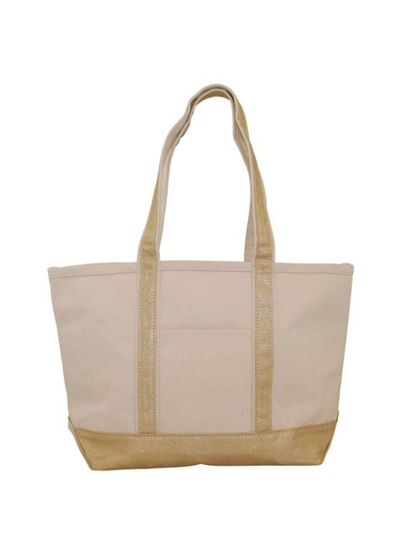 CB Station Metallic Gold Medium Boat Tote