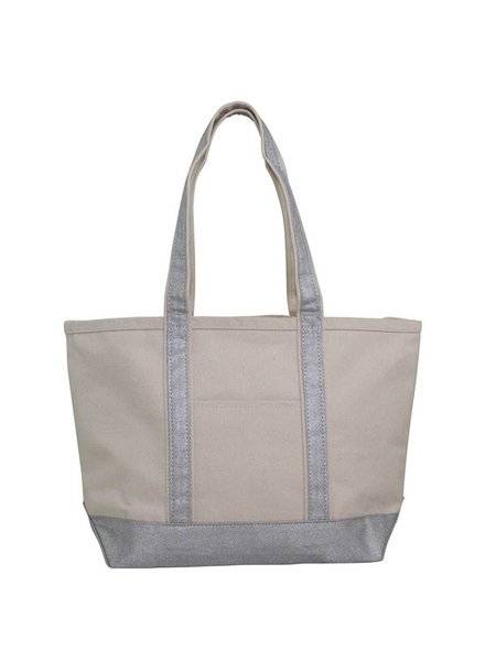 CB Station Metallic Silver Medium Boat Tote