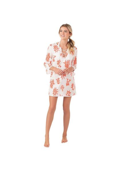 Mudpie Coral Easton Coverup Tunic