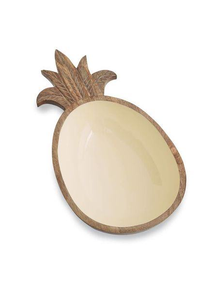 Mudpie Pineapple Wood Bowl