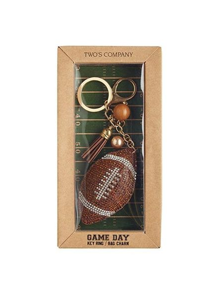 Two's Company Football Keychain
