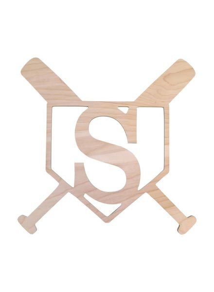 Wholesale Boutique Home Plate Wood Monogram