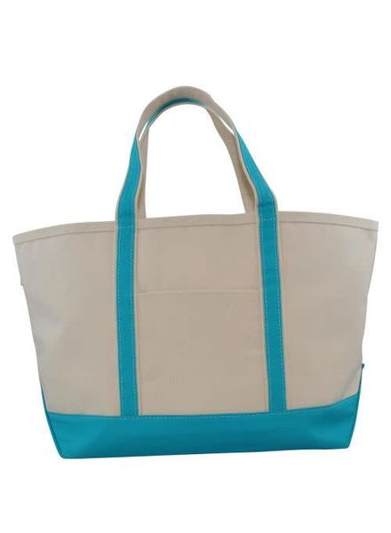 CB Station Turquoise Large Boat Tote
