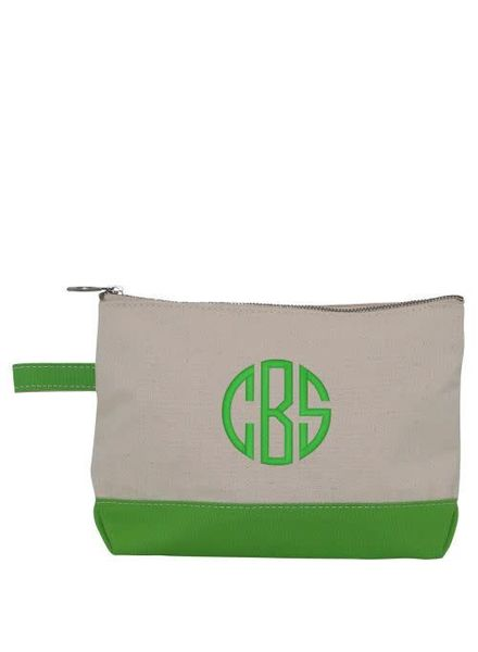 CB Station Grass Green Make Up Bag