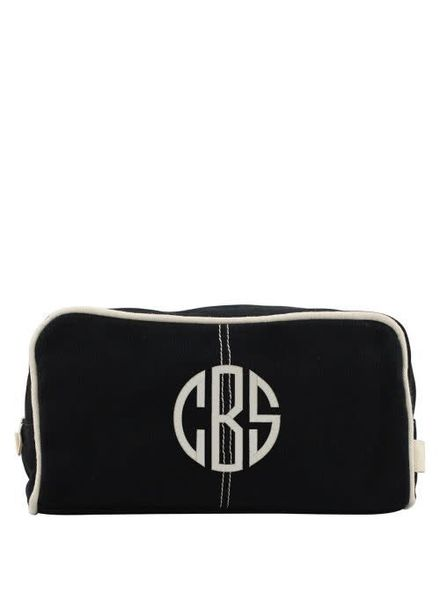 CB Station Black Canvas Dopp Kit