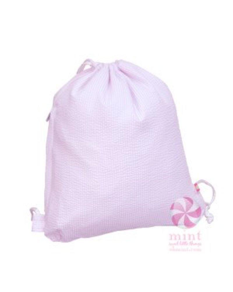 Mint Pink Seersucker Sling Bag
