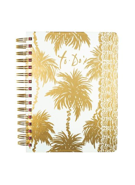 Lilly Pulitzer Metallic Palms To Do Planner