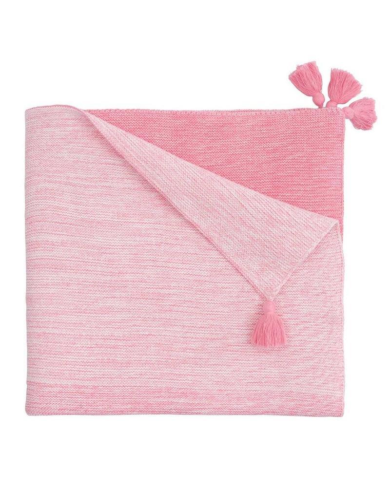 Elegant Baby Pink Ombre Baby Blanket