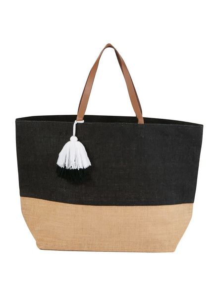 Mudpie Black Color Pop Tote Bag
