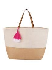 Mudpie White Color Pop Tote Bag