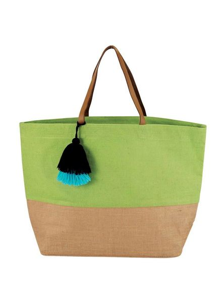 Mudpie Green Color Pop Tote Bag