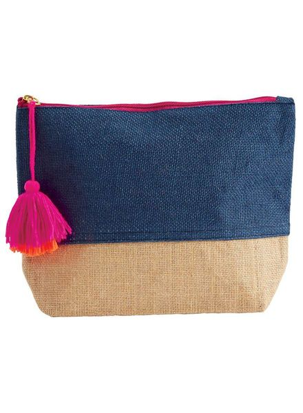 Mudpie Navy Color Pop Zip Case