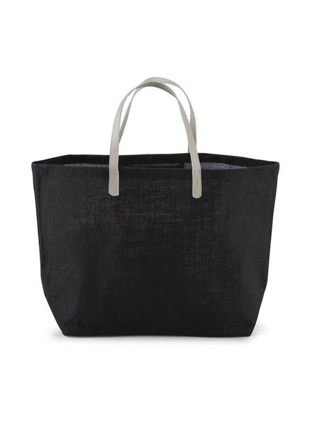 Mudpie Solid Black Tote Bag