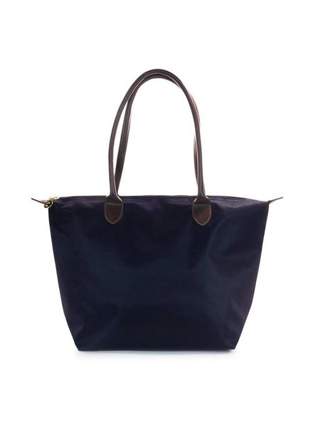Navy Medium Nylon Tote