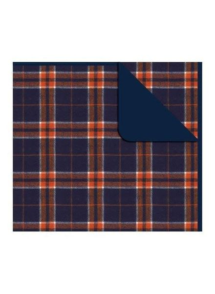 Boxercraft Orange & Navy Flannel Blanket