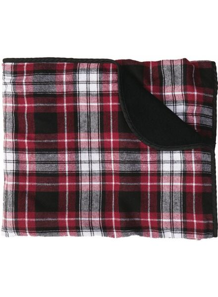 Boxercraft Maroon & White Flannel Blanket
