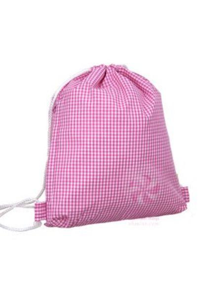 Mint Hot Pink Gingham Sling Bag