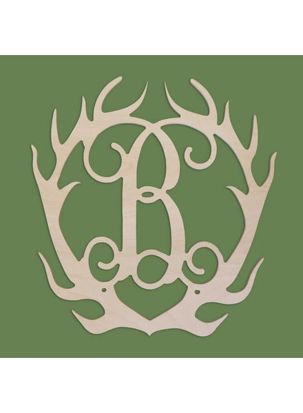 Wholesale Boutique Wood Antlers Monogram