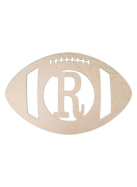 Wholesale Boutique Wood Football Monogram