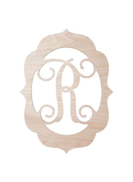 Wholesale Boutique Wood Fancy Frame Monogram