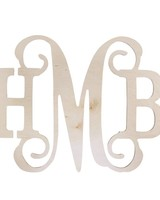 Wholesale Boutique Wood Middle Vine Monogram