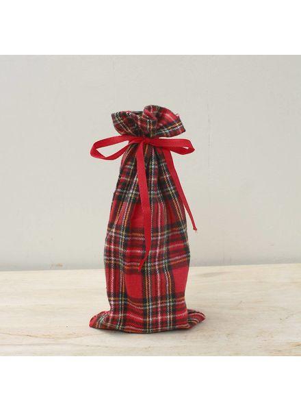 ROYAL STANDARD Red Plaid Wine Bag