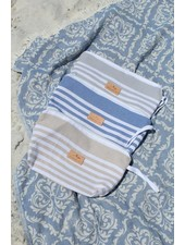 The Green Owl Vintage Blue Turkish Towel Wet Bag