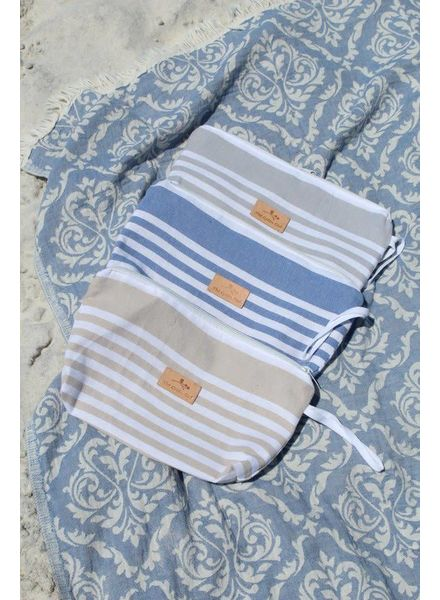 The Green Owl Vintage Blue Turkish Towel Wet Bag