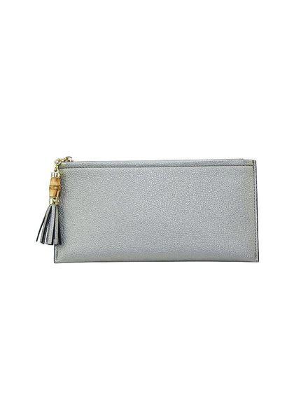 Wholesale Boutique PewterTassel Wallet