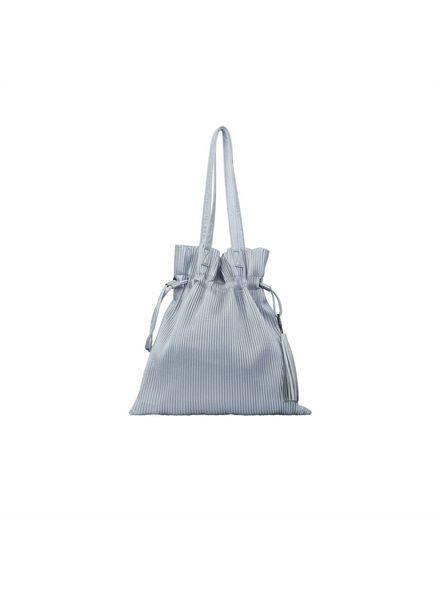 Silver Pleated Bucket Bag