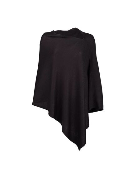 Wholesale Boutique Black Chelsea Poncho