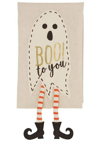 Mudpie Ghost Dangle Leg Towel