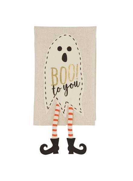 Mudpie Ghost Dangle Leg Towel