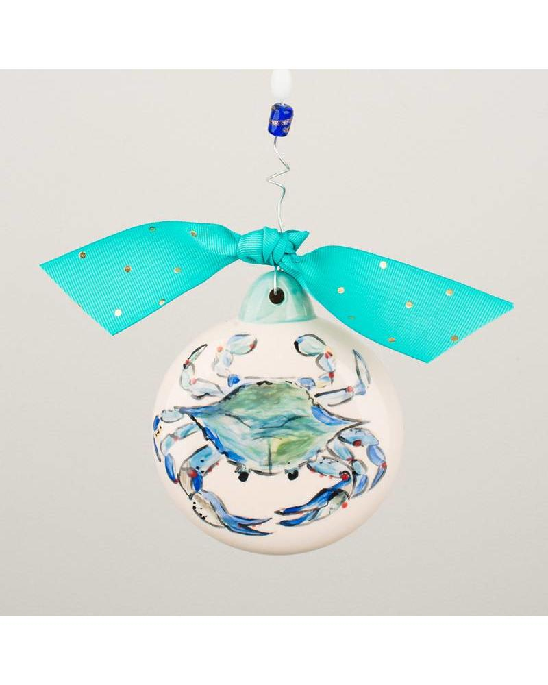 Glory Haus Ceramic Ornament - Blue Crab - Initial Styles Jupiter