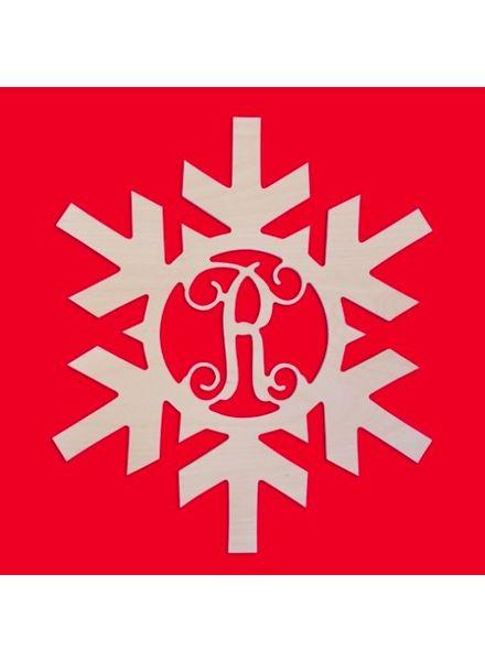 Wholesale Boutique Wood Snowflake Monogram