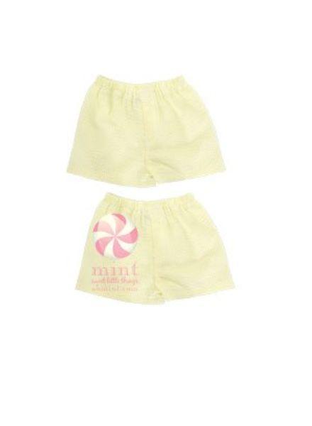 Mint Yellow Seersucker Boxers