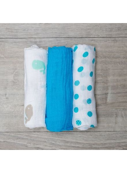 Mary Meyer Blue Muslin Blanket Set