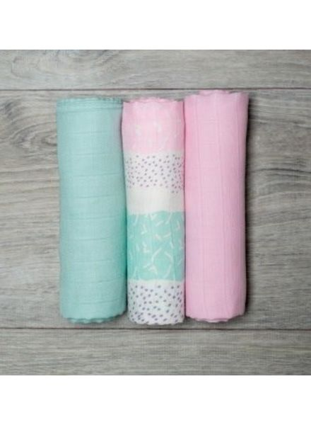 Mary Meyer Pink Muslin Blanket Set