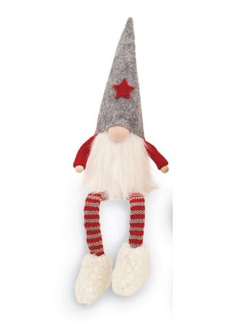 Mudpie Gray Dangle Leg Gnome