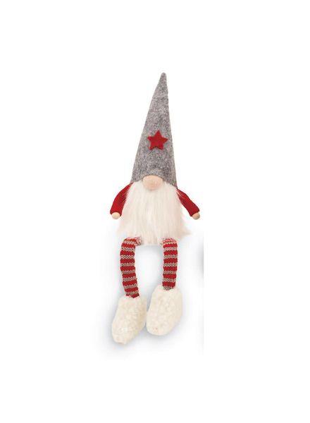 Mudpie Gray Dangle Leg Gnome