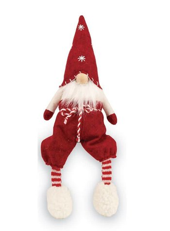 Mudpie Red Dangle Leg Gnome