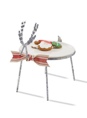 Mudpie Reindeer Cookie Plate Stand