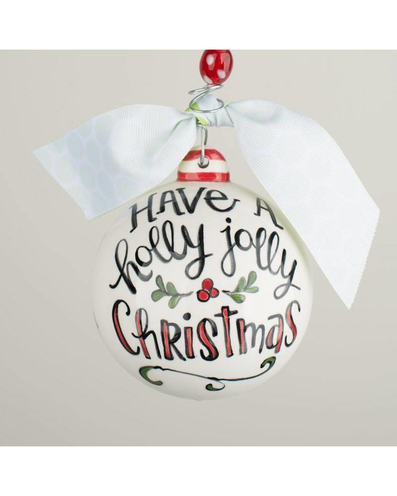 Glory Haus Ornament - Holly Jolly - Initial Styles Jupiter